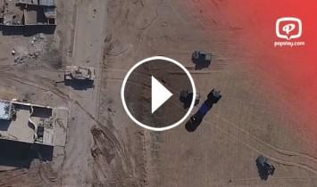 ISIS အဖြဲ႕၏ ဒ႐ုန္းယာဥ္ျဖင့္ တိုက္ခိုက္ခံလိုက္ရတဲ့ အီရတ္စစ္တပ္