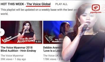The Voice Global ရဲ့ ထိပ္တန္းစာရင္းထဲဝင္သြားတဲ့ ႏွင္းအိေျႏၵရွင္
